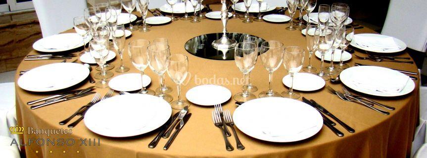 Varias decoraciones de mesa