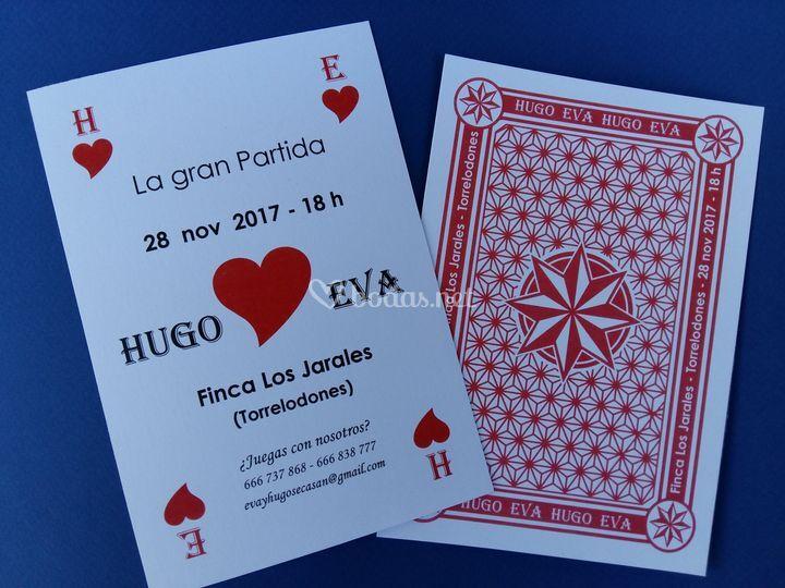 Invitación carta póker