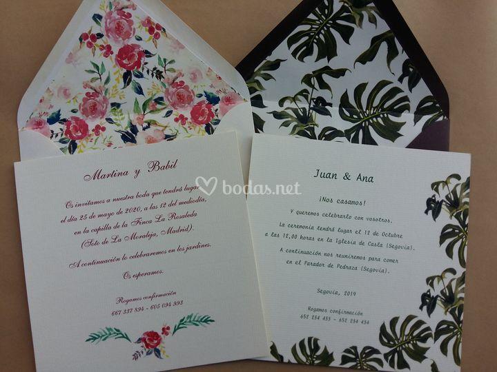 Invitaciones conjuntadas