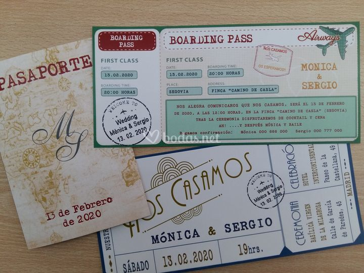 Pasaporte, boarding pass