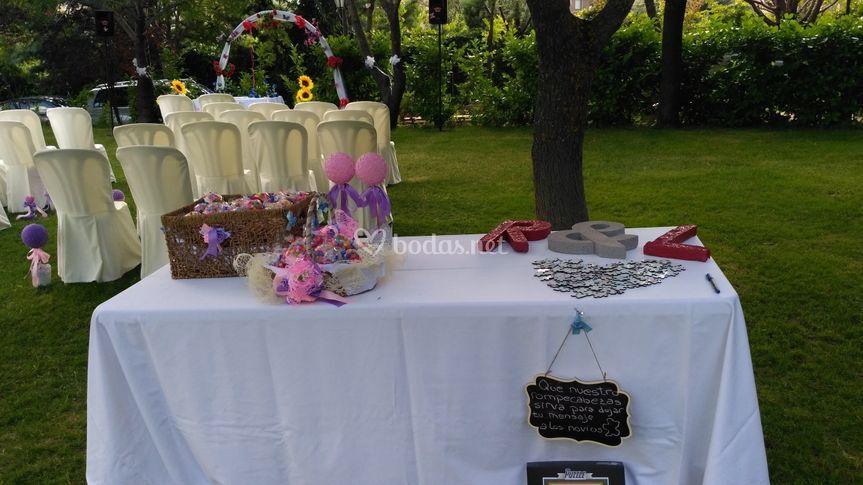 Altar en El Pazo de Lama
