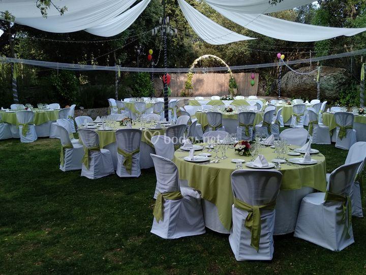 Banquete en Jardines