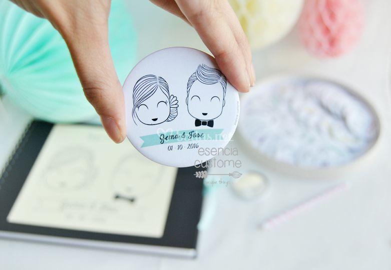 Detalles boda: espejo de bolsillo