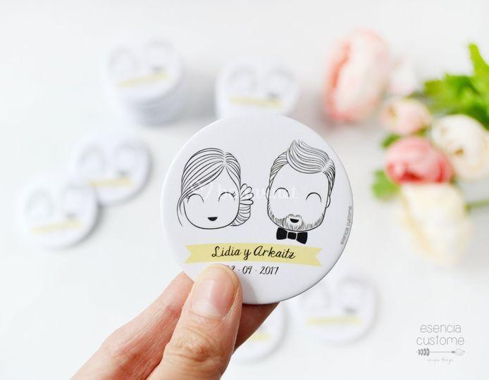 Detalles de boda: abridor imán