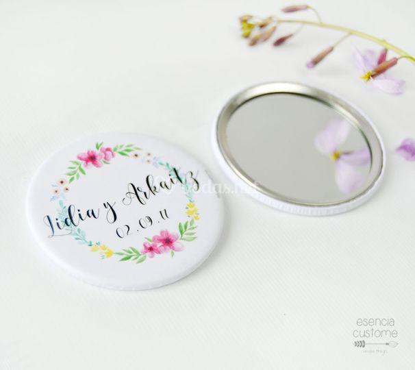 Detalles boda: espejo bolsillo