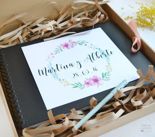 Libro de firmas flores