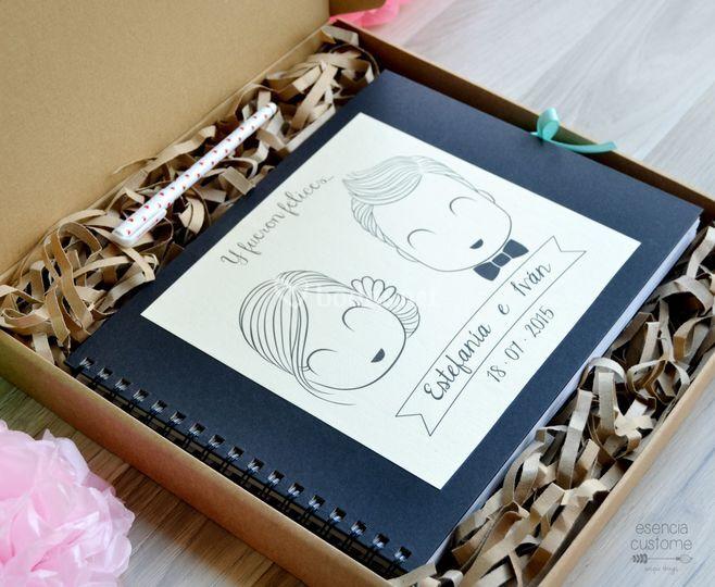 Packaging libro de firmas