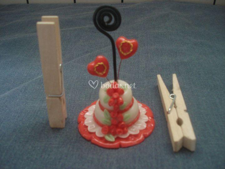 Mini tarta rosas rojas