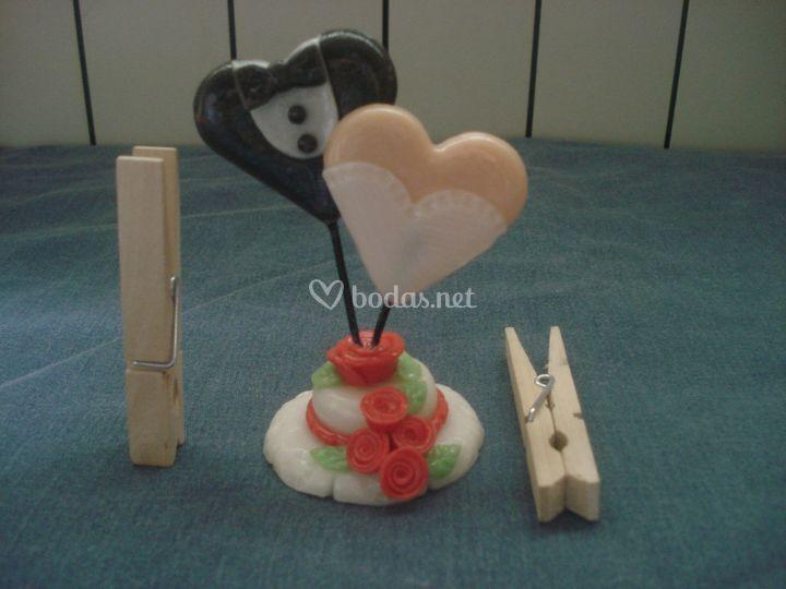 Mini tarta con corazones