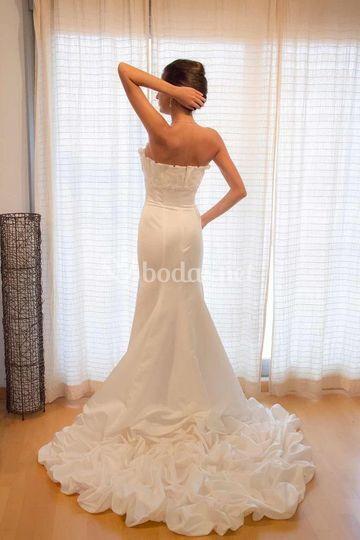 Ref 01-002 Talla 40 Vestido de seda artificial