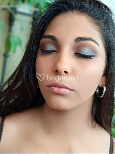 Maquillaje tornasolado