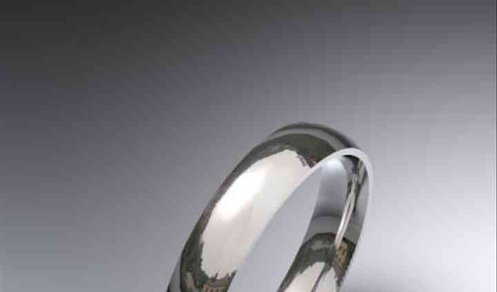 Alianza de boda oro blanco 18 K media caña 3,50 mm