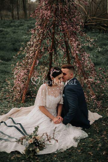 Tipy floral para ceremonia de boda
