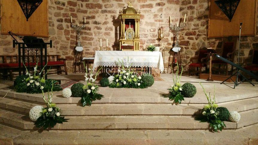 decoracin iglesia boda jardinera las jaras