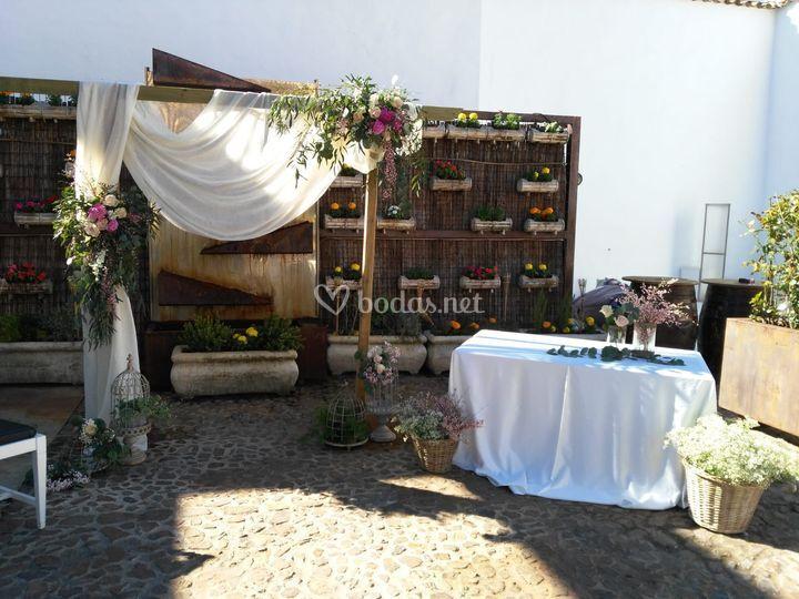 Decoración boda civil Arco