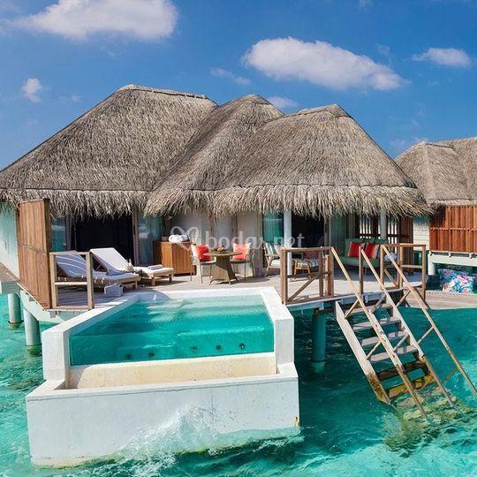 Water pool, The residence. Maldivas