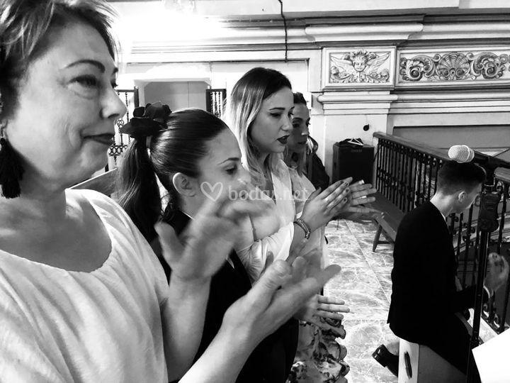 Pilar, Erika y Gloria