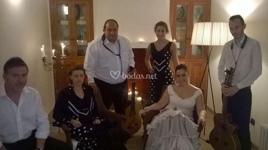 Grupo flamenco flor de romero