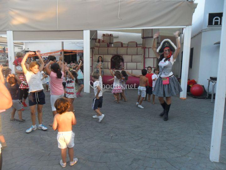 Piratas y niños