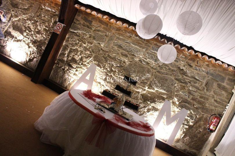 Mesa corte de tarta