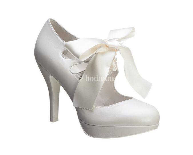 Zapato con lazada 28150 novia