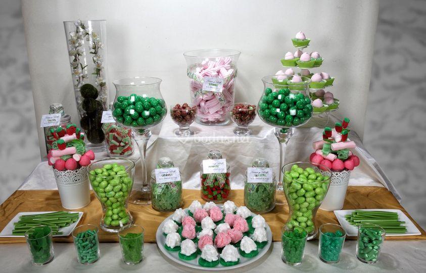 Candy bar en verde