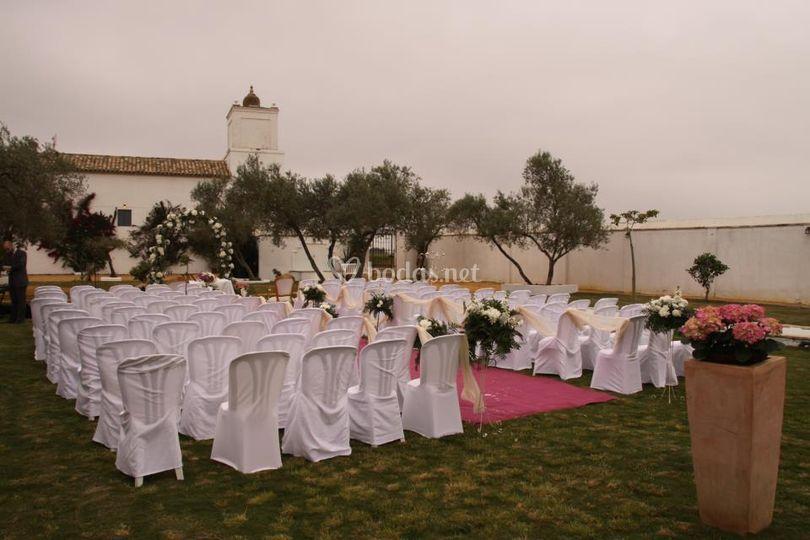 Montaje de una boda civil