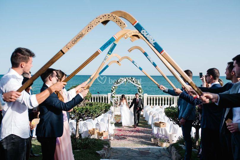 Salida ceremonia con sticks