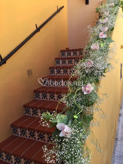Decoración de escalera