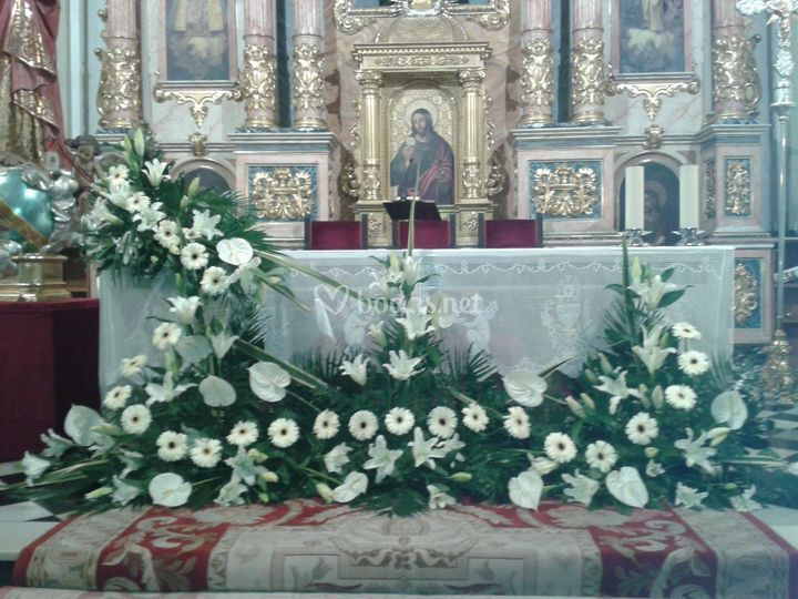 Decoración con rosas