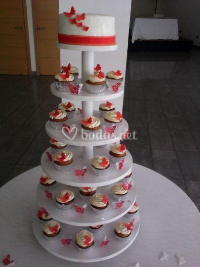 Tower Cupcake Boda