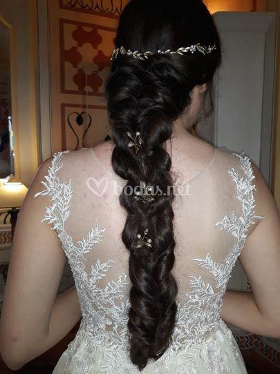 Peinado novia con trenza