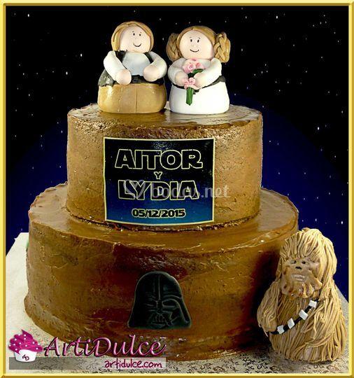 Tarta boda temática Star Wars