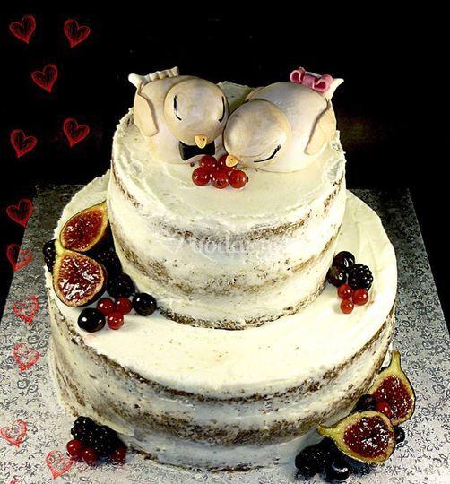 Naked Cake con pajaritos