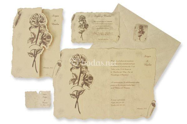 Invitación boda clásica