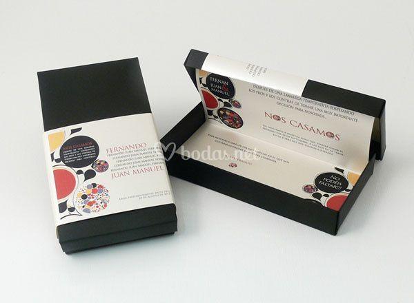Invitación boda especial caja