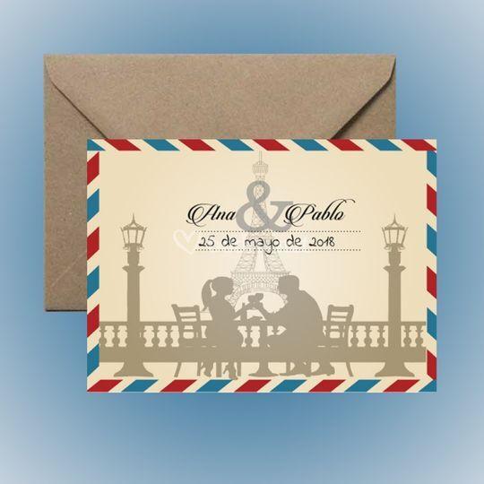 Invitación postal