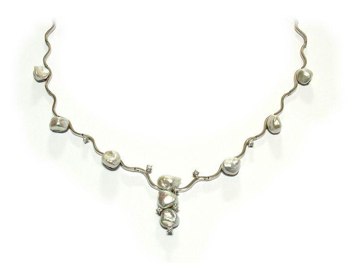 Gargantilla oro diamantes perl