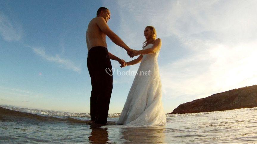 Vídeo en playa Bolonia
