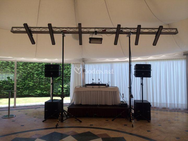 Disco boda salones grandes