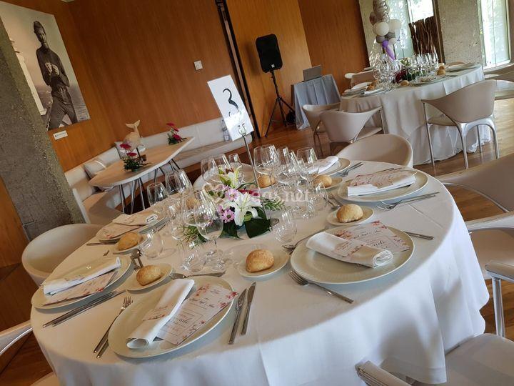 Montaje para banquete