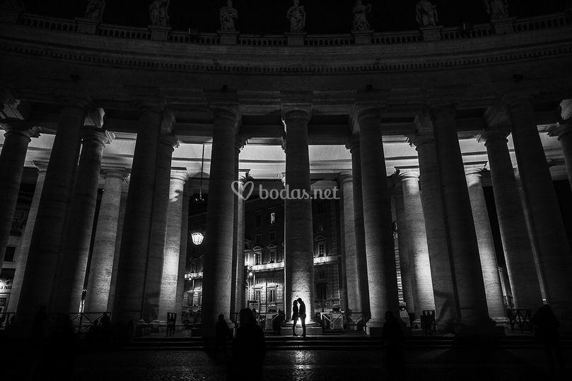 Preboda y novios en roma