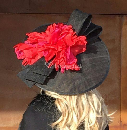 Sombrero plato redondo con flores