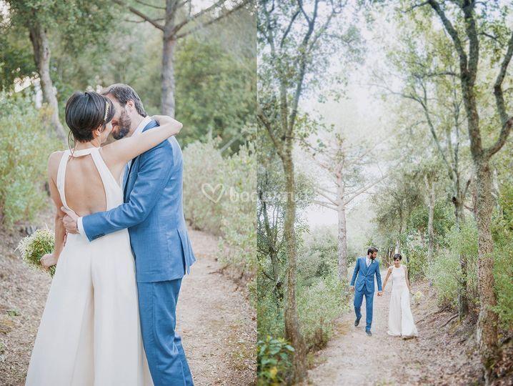 La boda de O & V