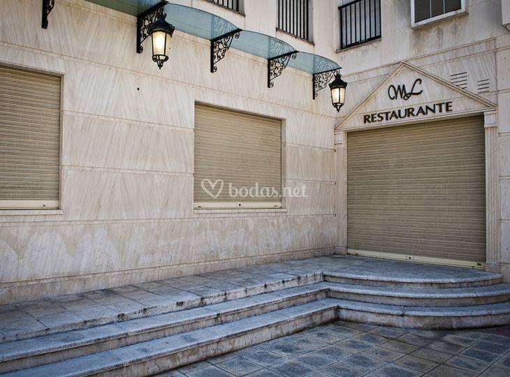 Vista del exterior del restaurante