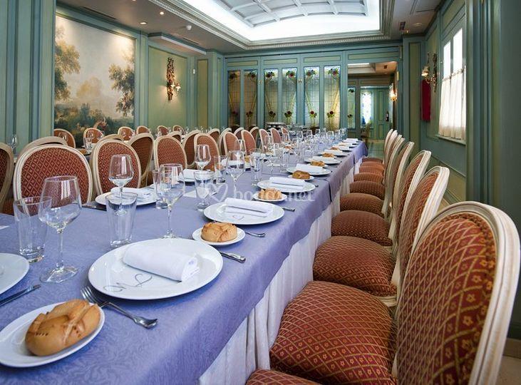 Mesas para los invitados