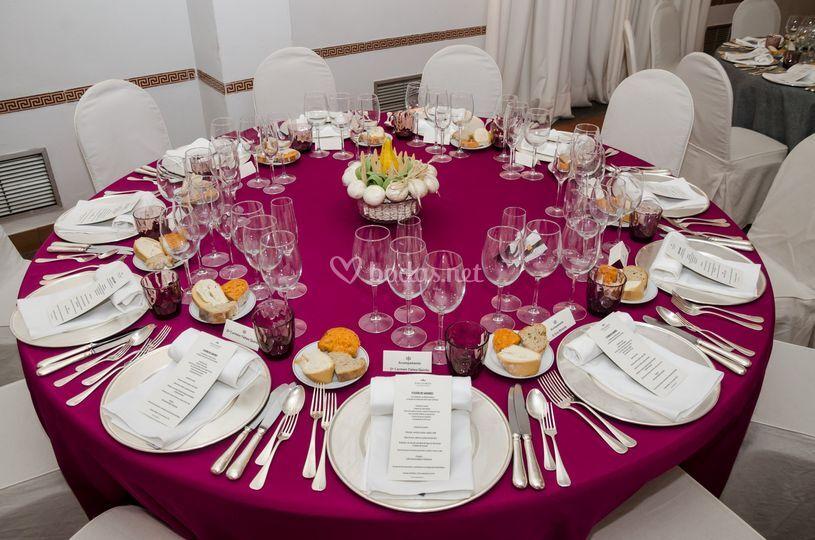 Mesas banquetes.