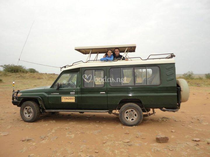 Naiara y Jesús en Kenia