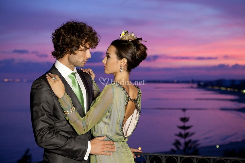 Noche romántica mediterránea