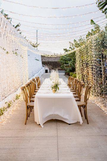 Banquete e iluminación